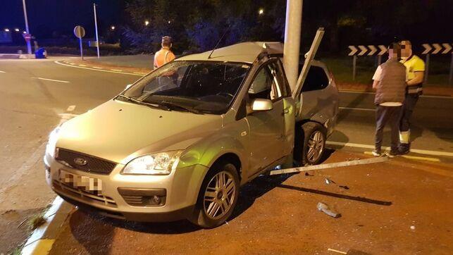 Accidente en la PA-30 de un conductor que ha dado positivo en alcohol