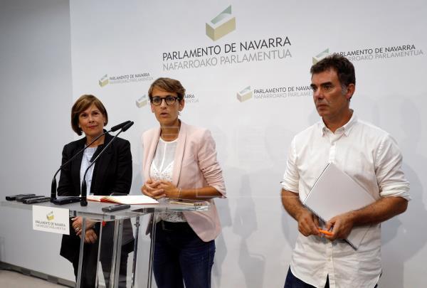 Tras ser elegida, Chivite da a conocer un Gobierno paritario con vicepresidentes de PSN y Geroa Bai