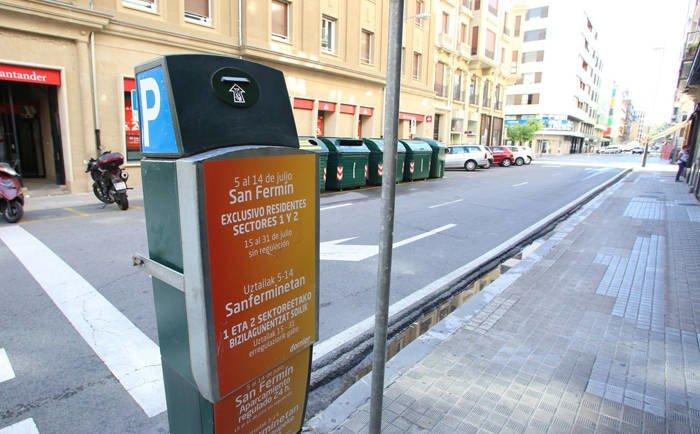 Desde el viernes Pamplona será zona naranja de estacionamiento regulado