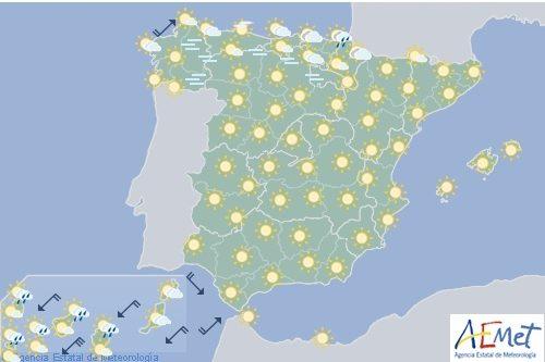 El tiempo en España hoy