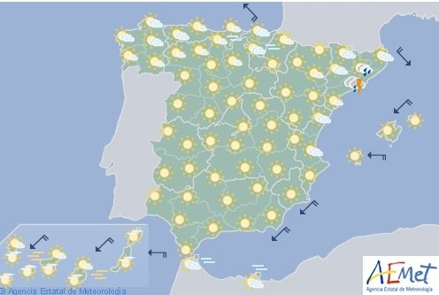 El tiempo hoy en España