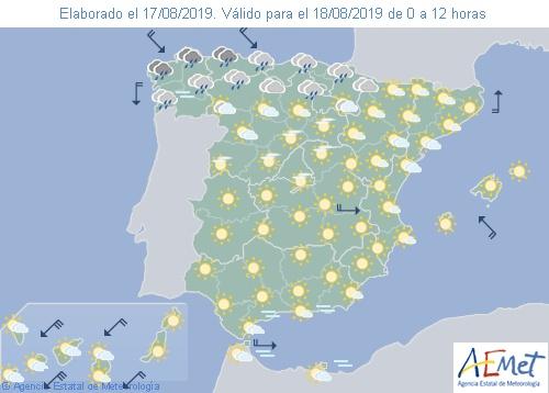 Hoy el tiempo en España