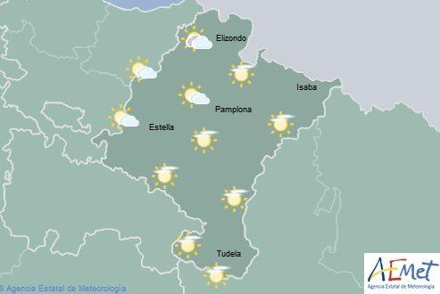 El tiempo hoy sábado en Navarra