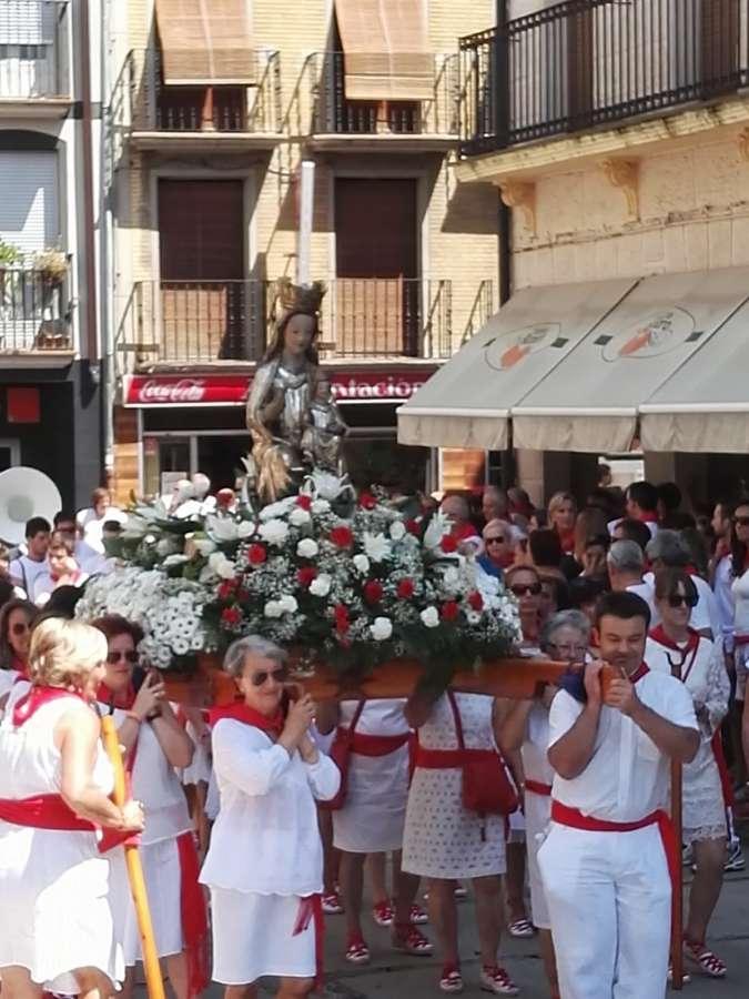 Día Grande de Estella con la Virgen del Puy y San Andrés en Procesión