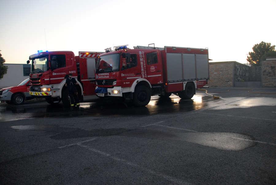 Sofocado un incendio en las inmediaciones de Cizur Menor en Pamplona