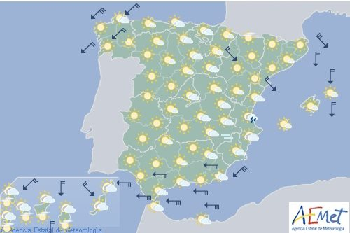 El tiempo en España hoy sábado
