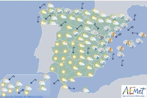 El tiempo en España para hoy miércoles