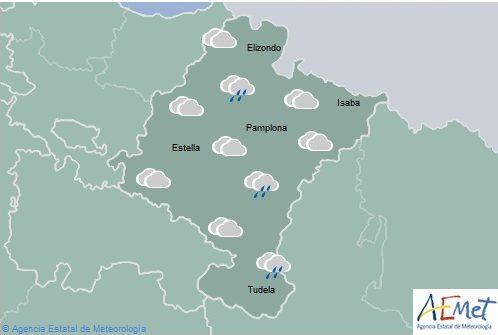 El tiempo para hoy lunes en Navarra