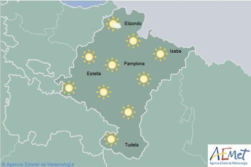 Hoy jueves el tiempo en Navarra