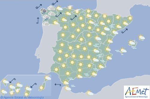 El tiempo hoy domingo en España