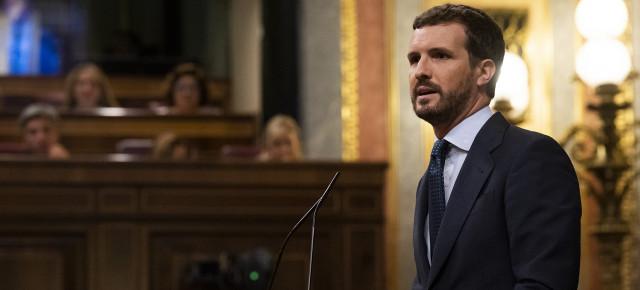 Casado exige a Sánchez el compromiso de no indultar a condenados del proceso separatista
