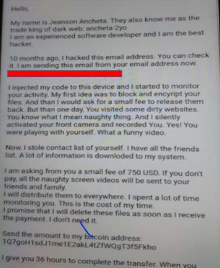 La Policía Foral alerta sobre una nueva remesa de correos de extorsión de contenido sexual