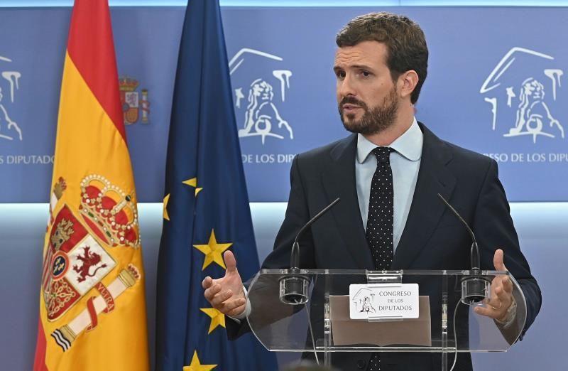 Casado sugiere a Ciudadanos abstenerse para que el Gobierno no dependa de ERC