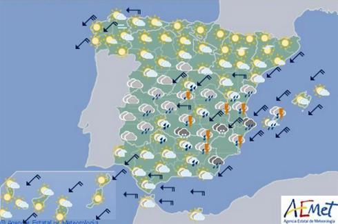 El tiempo para hoy viernes en España