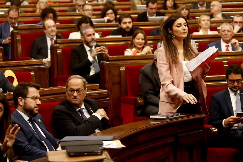 El Parlamento rechaza la moción de censura a Torra, que enfrenta a Cs y PSC
