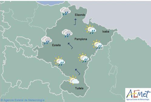 Tiempo para hoy jueves en Navarra