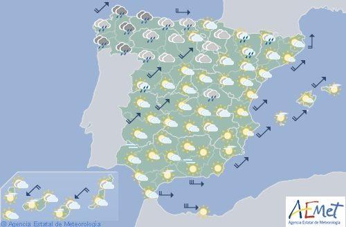 El tiempo para hoy en España