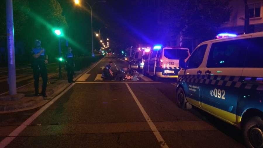 Un hombre, herido grave tras ser atropellado de madrugada en Pamplona