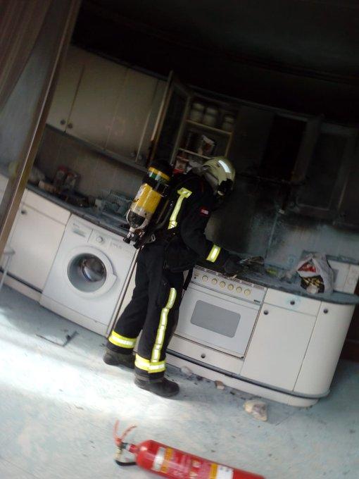 Hombre trasladado a centro médico tras un incendio en una vivienda en Estella