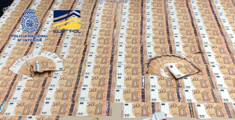 Policía Nacional desmantela en Madrid la distribución de billetes de 50 euros falsos por toda España