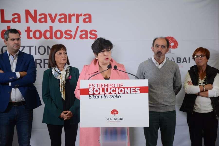 """Solana cree que Navarra ha quedado """"huérfana"""" en Madrid los últimos meses"""