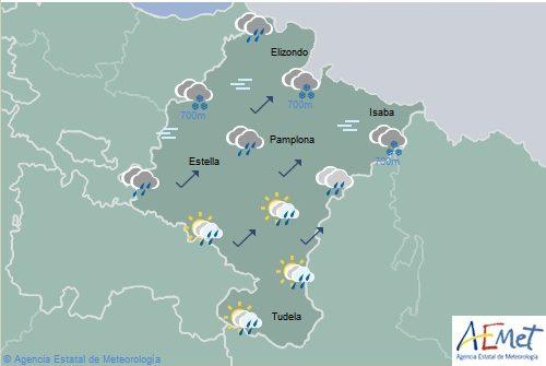 El tiempo para hoy jueves en Navarra