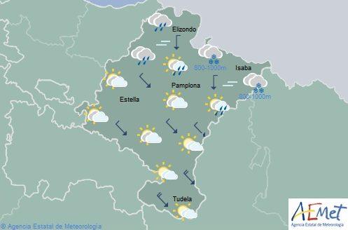 El tiempo en Navarra hoy lunes