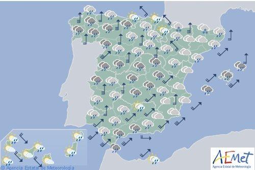 El tiempo en España para hoy viernes