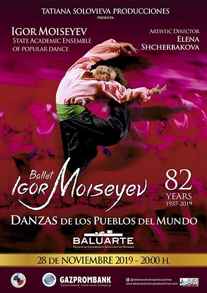 AGENDA: 28 de noviembre, en Baluarte, BALLET DE IGOR MOISEYEV
