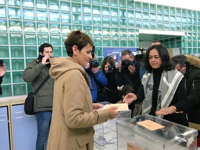 Chivite confía en que el resultado electoral permita superar el bloqueo