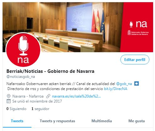 """El Gobierno de Chivite mantiene el """"euskera"""" frente al español en las redes sociales"""