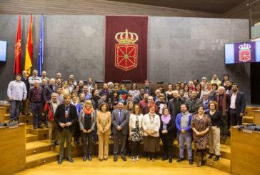 Lectura de la Declaración Universal de Derechos Humanos en el Parlamento de Navarra