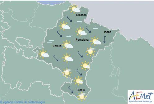El tiempo en Navarra hoy martes