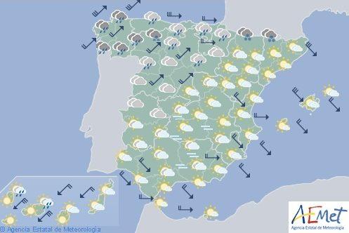 El tiempo en España hoy jueves