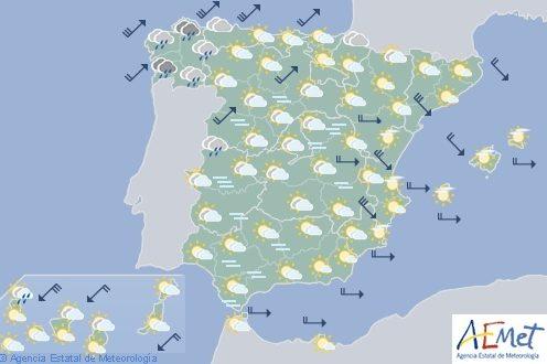 El tiempo en España para hoy sábado