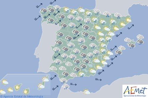 El tiempo hoy sábado en España
