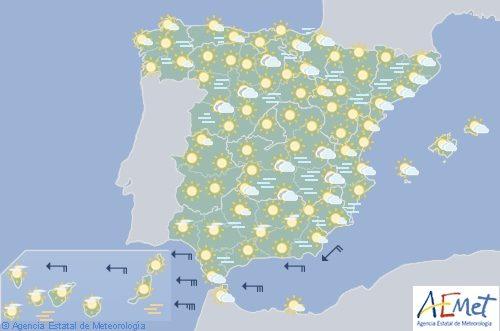 El tiempo en España para hoy domingo