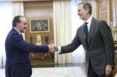 Felipe VI reanuda las consultas con el presidente de UPN y líder de NA+