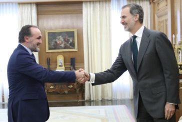 Javier Esparza traslada al Rey Felipe VI su