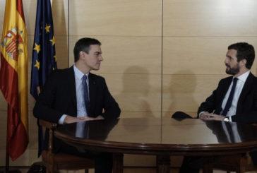 """Casado: """"El PP no puede abstenerse a un Gobierno comunista con Podemos. Sería letal para España"""""""
