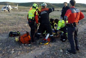 Con pronóstico reservado un vecino de Pamplona en accidente de ala delta