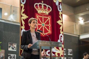 Chivite ensalza la diversidad de Navarra y critica la reducción de libertades