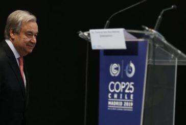 Guterres: el punto de no retorno contra la crisis climática se nos echa encima
