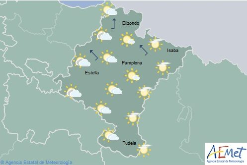El tiempo hoy lunes en Navarra