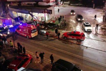 El padre de los dos niños muertos arrollados por el autobús en Estella bajo en la parada anterior