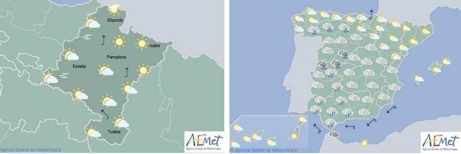 El tiempo para hoy viernes en Navarra y España