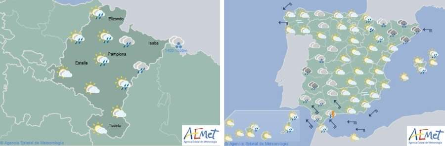 El tiempo hoy jueves en Navarra y España