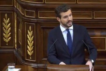 Investidura: Casado dice a Sánchez que si no actúa contra Torra le acusará de prevaricación