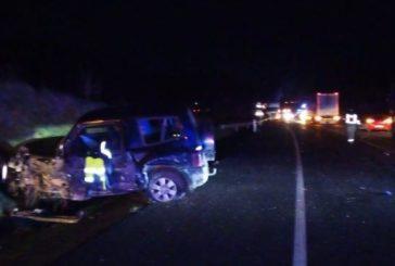 Dos muertos y cinco heridos leves en una colisión múltiple en la N-121-A en Olagüe