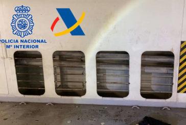 Intervenidos 10,4 kilos de cocaína ocultos en el aire acondicionado de un buque portavehículos
